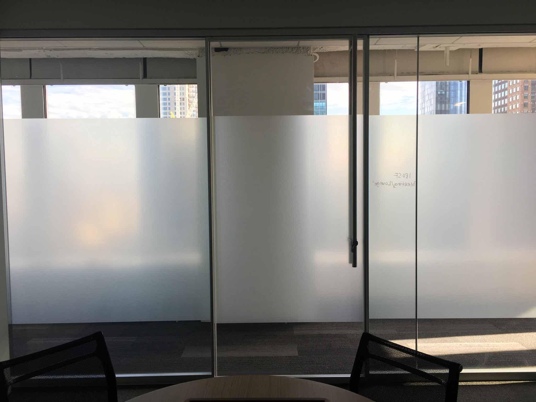 distraction band on glass walls