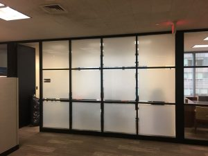 privacy window film in commercial space