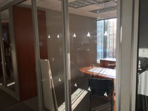 patterned window film distraction markers